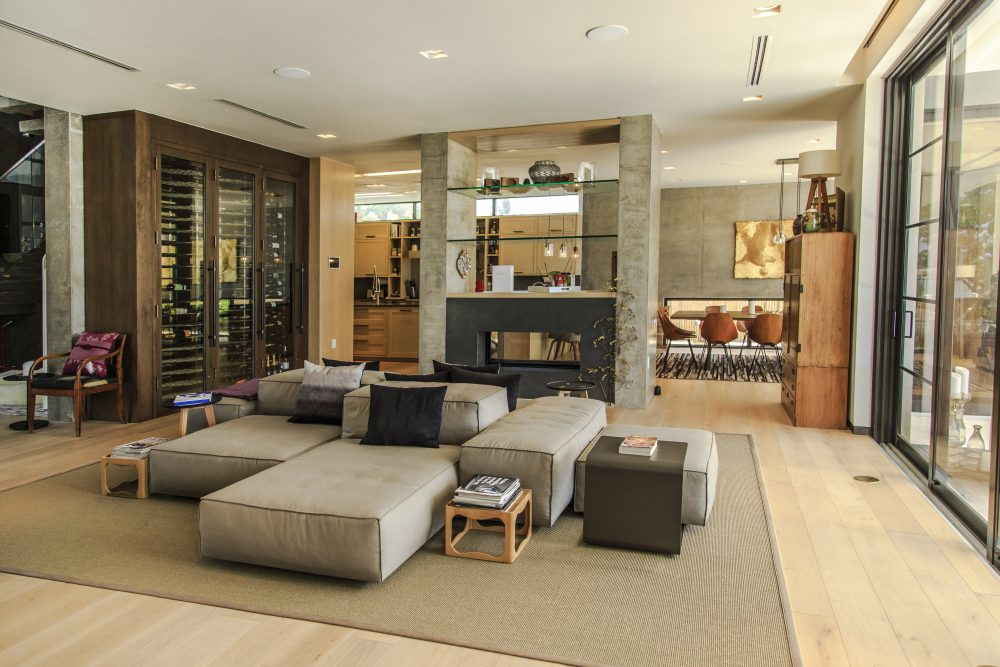 Sitting Room with Custom Built Features & Wine Cellar