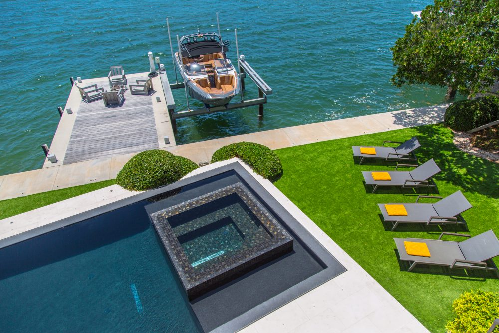 Pool, Dock & Ocean Views